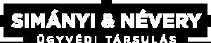 Simányi és Névery logó fehér